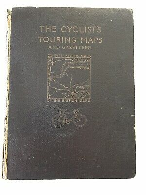 """""""Cyclists Touring Map Of The British Isles"""" Pre-war, Shows Railways Pre Beeching"""