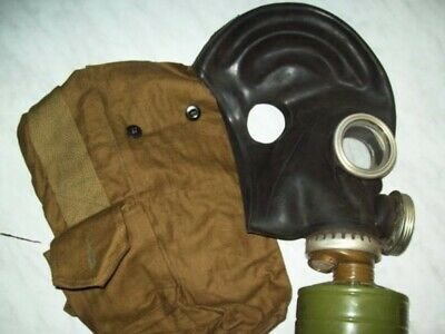 Soviet Russian military gas mask GP-5M rubber full set new from old stock