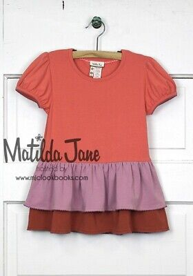 ~ MATILDA JANE~Secret Fields~ Hide & Seek Ruffle Tiered Top~ SZ 4~