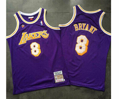 Kobe Bryant #8 Los Angeles Lakers All-Star Purple ADULT Jersey Size S-XXL