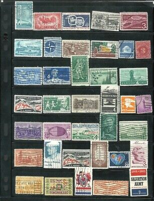 USA UNITED STATES 82 Stamps Used Lot  #197 Free Shipping