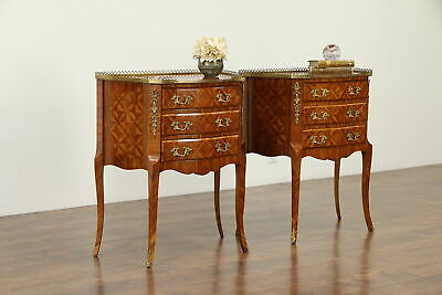 Pair of Tulipwood & Rosewood Italian Chests, End Tables, or Nightstands #33041