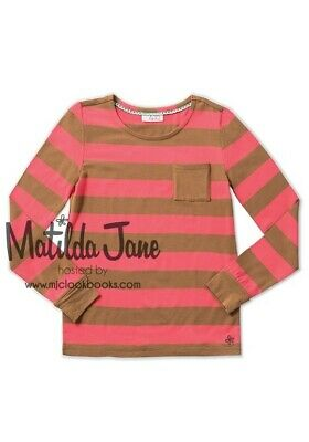 ~MATILDA JANE~ Friends Forever 435~ Electra Stripe Tee Top~ SZ 14~