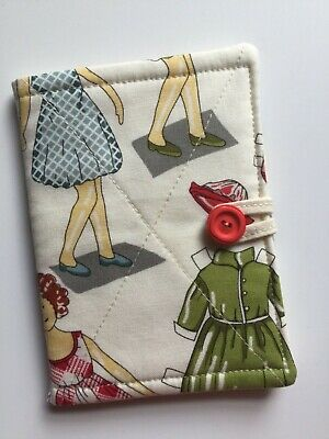 needlecase fabric Paper Doll Felt page inside Gift Present Needles Book New