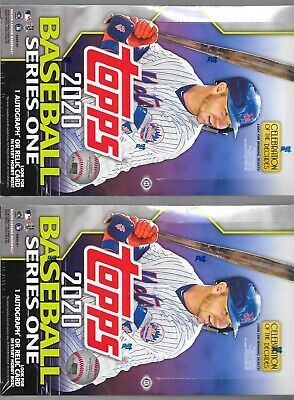 2020 TOPPS SERIES 1 FACTORY SEALED HOBBY 2 BOX LOT WITH 2 Silver Packs  HOT!!!!