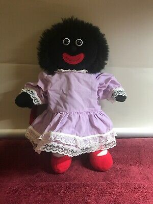Bocchetta Cute Small Black Doll Ragdoll Purple Dress Red Handbag Toy 36cm