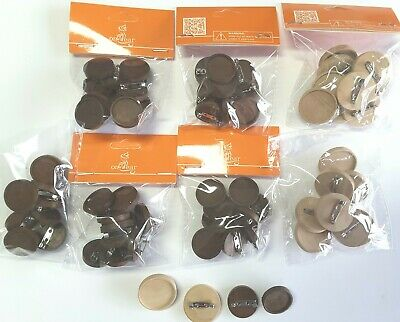 70pcs x 25mm & 20mm Wooden Round Brooch Blank Jewellery findings craft brooches