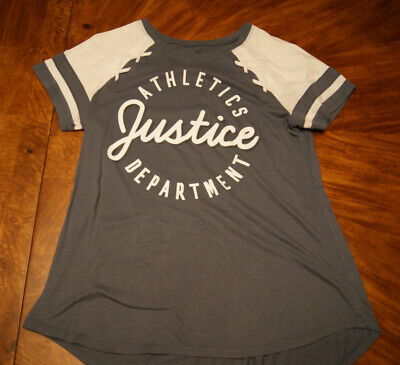 Girls JUSTICE Athletic Gray Top, size 18/20