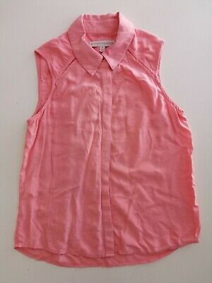 Witchery 8 Fourteen, Girls Size 10, Button down Top / Blouse, Coral colour GUC