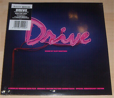 DRIVE ***OST Neon Pink Colored 2x Vinyl Anniversary Edition with A Booklet