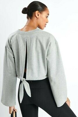 Brand New VARLEY Milldale Pale Grey Sweater Top Size Small