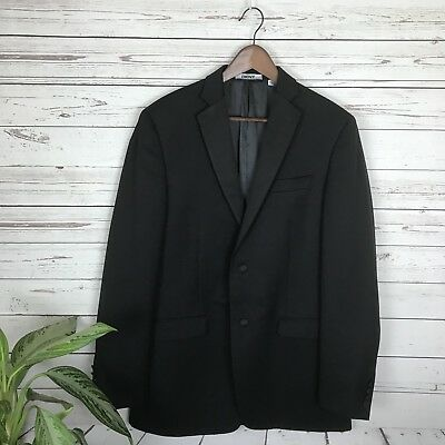 DKNY Men's Black Wool Blend Suit Coat Blazer Size 40L