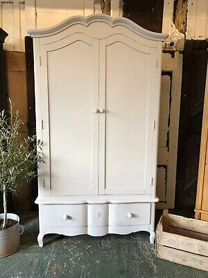 Hand Painted French Style Wardrobe