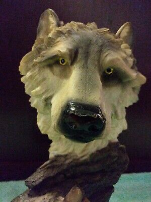 """Gray Wolf Family Figurine 9.75/""""L Timber Wolf Mother /& Pups Home Decor Statue"""