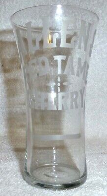 Allens Red Tame Cherry Syrup Line Soda Fountain Glass