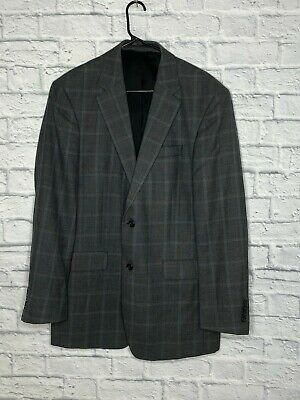 Jos. A. Bank Traveler's Collection Gray Glen Check Wool Tailored Suit Jacket 41L