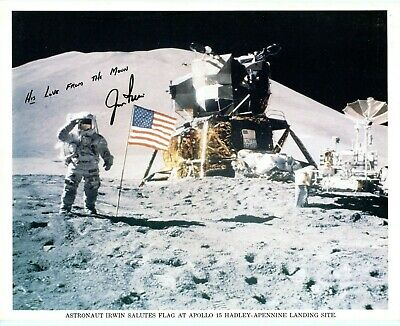 Astronaut Archives offers Jim Irwin handsigned Apollo 15  on the moon litho