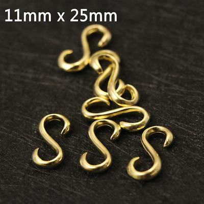 Leather Craft DIY Pure Brass S Hook Luggage Bracelet Buckle Tool 25mm
