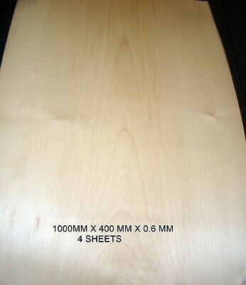 Real Wood Veneer 4 Xl Crown Sycamore For Guitars,Crafts,Furniture,Panels,Boxes