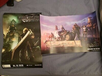 Set 2 Final Fantasy VII Remake Promo Poster! PAX East 2020 Cloud, Tifa, Aerith