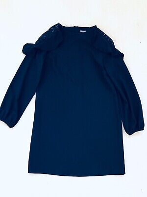 Girls Navy Ling Sleeve Dress Age 13 Years From Next