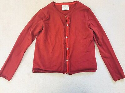 Girls Rust Colour Cardigan Age 9-10 Years From Zara