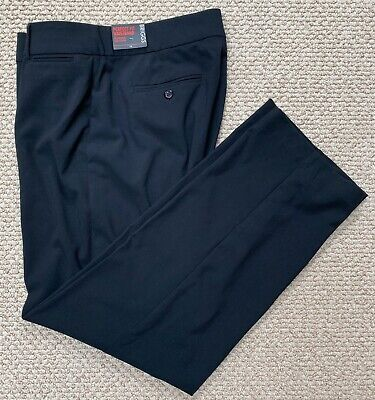 BRIGGS SLIMMING SOLUTION Flat Front Black Stretch Dress Pants~Size 12~NWT~NICE!