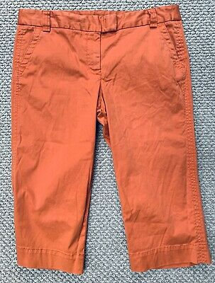 J. CREW FAVORITE FIT Coral Cotton Chino Capri Pants~Size 12~NWT $59.50!~SO NICE