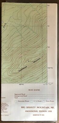BIG SHANTY MOUNTAIN, Maine Map Department Interior Geological Survey USGS 1988