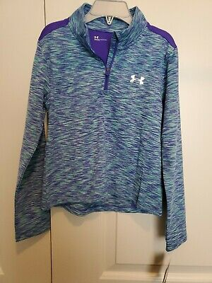 Under Armour Girls Pullover, 6, NEW, Purple/Green