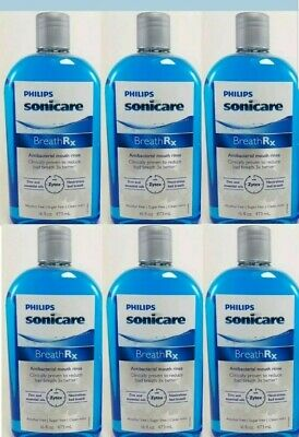 6 x Philips Sonicare Breathrx Antibacterial Mouth Rinse, 16 Fl Oz 6  pack