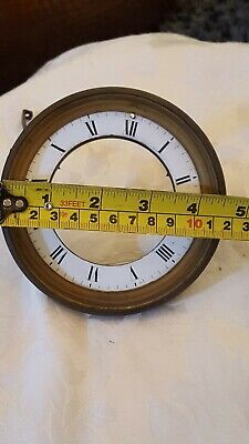Antique French Enamel Marble Clock 8 Day Mantle Clock Dial - Clock Spares