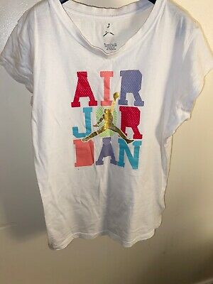 Nike Air Jordan Tee Shirt Girls Age 13-15 Years