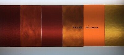 Stained Glass Hobby Sheets Mixed Colour 6 X 100mm X 200mm