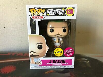Funko Pop! J.Balvin Limited Edition Chase #136 Green Hair w/soft protector
