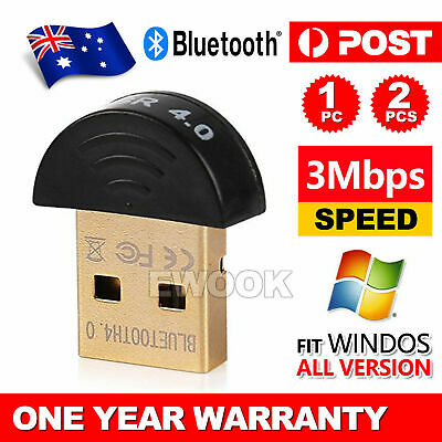 Mini Wireless USB Bluetooth Adapter V4.0 Dongle Receiver For PC WIN 10 XP VISTA