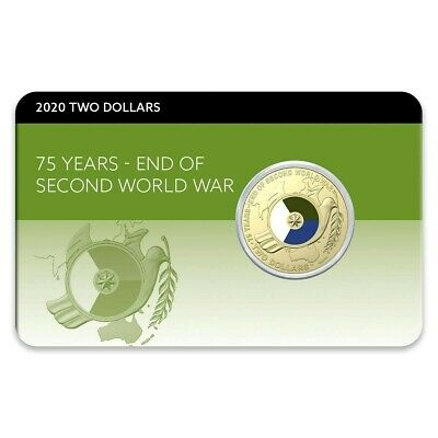 2020 75th Anniversary of the End of WWII $2 Colour Al-Br Coin Pack