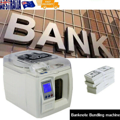 Paper Currency Banknote Binder Tools Money Bundle Packer Strapping Machine