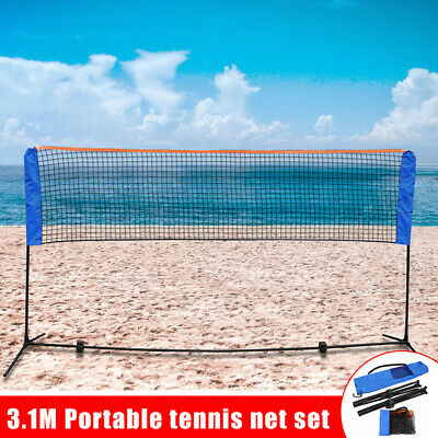 10 Feet Portable Badminton Volleyball Tennis Net Set W/ Stand Frame Carry Bag US