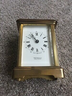 brass antique Martin &Co carriage Clock