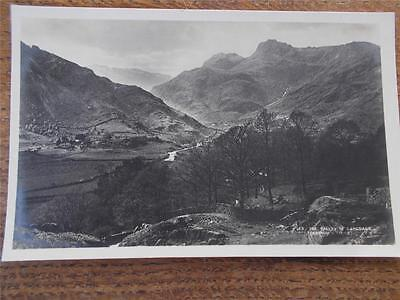 Vtg B/W Real Photo Postcard VALLEY Of LANGDALE ABRAHAM CUMBRIA LAKE DISTRICT VGC