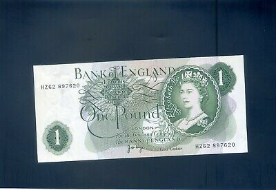 England English Page   One Pound £1  Banknote - #HZ62 897620