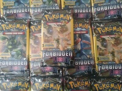 1//2 Box English x18 Pokemon SM Forbidden Light Booster Packs