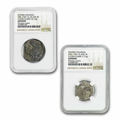 Treasure of The Princess Louisa Clump Cobs Shipwreck Set NGC - SKU#208386
