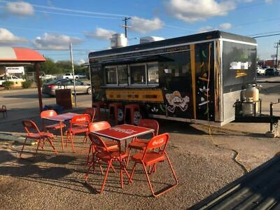 Fully Equipped 2018 - 16' Kitchen Food Concession Trailer with Pro Fire Suppress