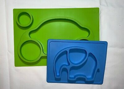 Silicone Feeding Set Blue Green Baby Toddler