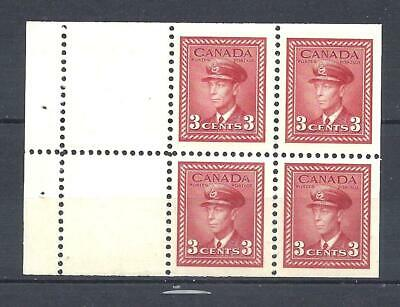 Canada KGVI WAR ISSUE BOOKLET PANE SCOTT 251a VF MINT NH (BS13431)