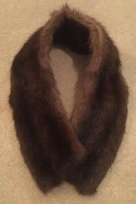 Vintage Ladies Women's Mink Fur Collar