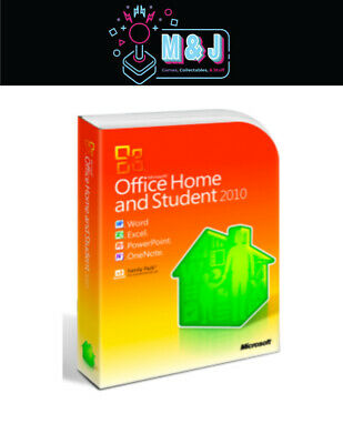 Microsoft Office Home and Student 2010 GENUINE AUSTRALIAN RETAIL PACK