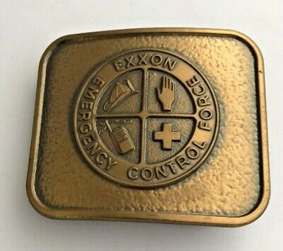 Vintage Exxon Emergency Control Force Belt Buckle